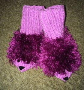 Пинетки-носочки ёжики