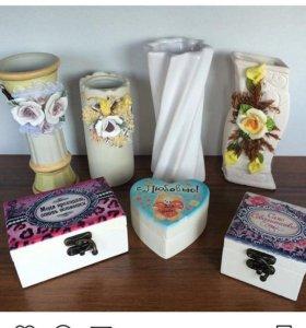 Новые Шкатулки и вазы для цветов