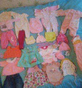 Пакет одежды для девочки от 0-6