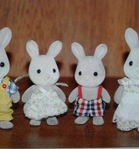 Sylvanian Families Семья серых кроликов