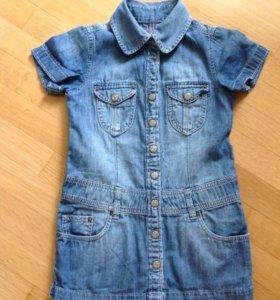 Платье джинсовое H&M размер 2-3 года
