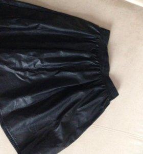 Кожаная юбка, р-р 48