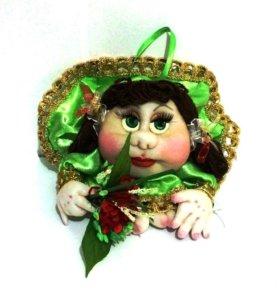 Кукла-попик зеленая