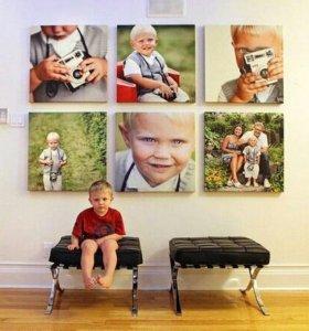 Портреты и картины на холсте
