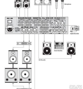 DJ-пульт Behringer DDM4000 Digital PRO Mixer