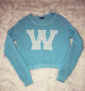 Свитшот с кружевом свитер новый!