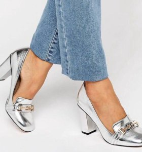 Лоферы- туфли на каблуке