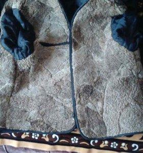 Кожаная куртка с зимней подстежкой