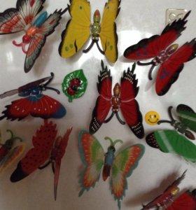 Бабочки для декора 15 см для дачи