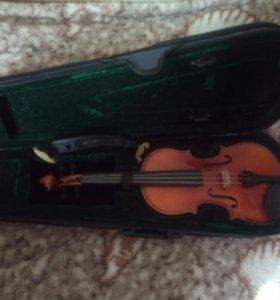 Скрипка 1/2 с мостиком kun