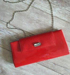 Лаковая сумочка со стразами😍