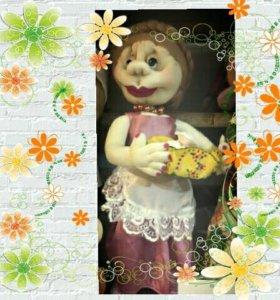 Кукла ручной работы бабушка Авдотья