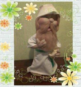 Скульптурно текстильная кукла домовой