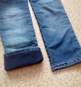 Новые джинсы, утепленные