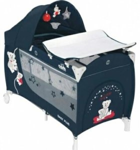 Кровать-манеж с ортопедическим матрацом