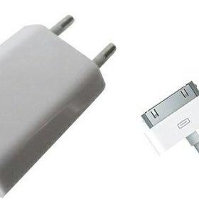 Зарядка на iPhone оригинал + 4s на запчасти