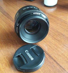 Объектив Canon 50 mm 1.8