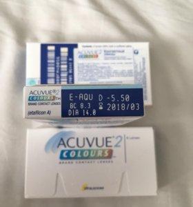 Цветные линзы acuvue -5,5