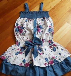 Туника-платье для девочки на 10-11 лет