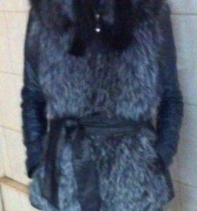 Жилетка чернобурка р-р 42-52