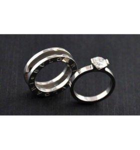 Кольцо bvlgary трансформер, серебро 925, размер 17