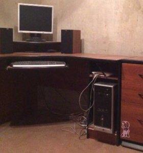Угловой компьютерный стол, тумба