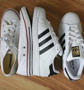 Кеды. Adidas superstar. Converse. 35-45