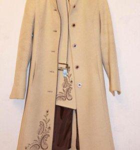 Стильное пальто (шерсть + кашемир)