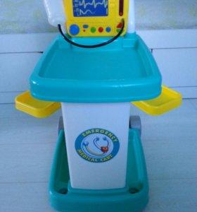 Тележка медицинская игрушечная