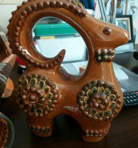 Глиняная статуэтка - баран