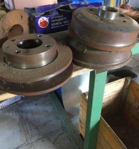 Ступица и тормозные диски на 14 дюймов для Оки