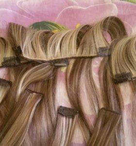 Пряди для наращивания волос на заколках