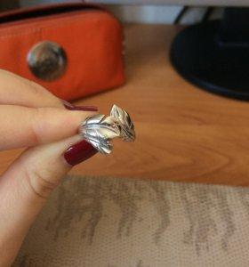 Кольцо 16,5 серебро