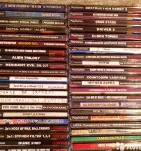 Продам игровые диски для PS 1