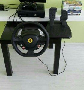 Продаю XBOX 360 + Руль с педалями + игры + Kinect