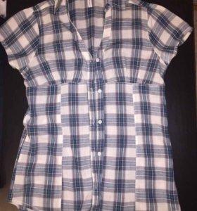 Блузка рубашка клетка