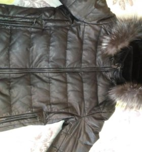 Продам зимнюю кожаную куртку