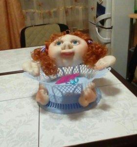 Кукла - корзинщица