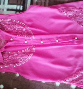 Блузка безрукавка, розовая, б/у.