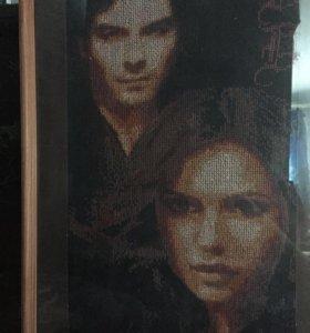 Вышитая картина The Vampire Diaries