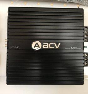 Новый усилитель 2-ух канальный acv lax 2.60