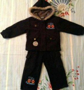 Вельветовый уличный костюм для мальчика