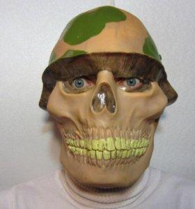Маска череп в каске