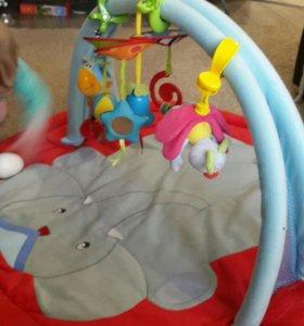 Развивающий коврик с дугой для игрушек-зажимов!)