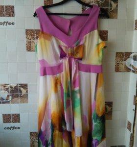 Шифоновое платье-сарафан
