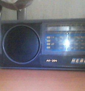 Приёмник радиовещательный НЕЙВА РП-204 ГОСТ5651-89