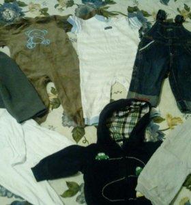 Пакет фирменной одежды на 9-18 месяцев на мальчика
