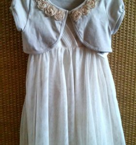 Платье для девочки с балеро,очень нарядное!