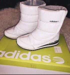 сапоги зимние Adidas дутики
