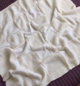 Вязаное одеялко 100x110